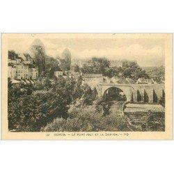 carte postale ancienne 21 SEMUR. Le Pont Joly et le Donjon 1934