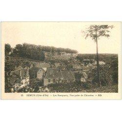 carte postale ancienne 21 SEMUR. Les Remparts vus de Chicottes