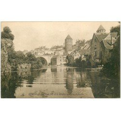 carte postale ancienne 21 SEMUR. Pont Joly et Donjon vu du Caron