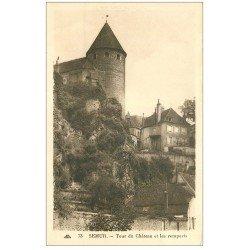 carte postale ancienne 21 SEMUR. Tour du Château et Remparts