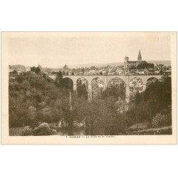 carte postale ancienne 21 SEMUR. Ville et Viaduc