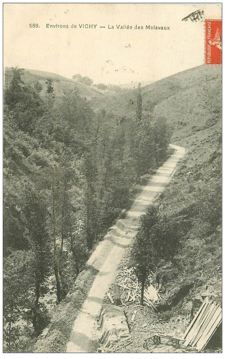 carte postale ancienne 03 MALAVAUX. La Vallée 1913