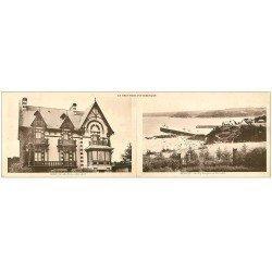 carte postale ancienne 22 BINIC. Double Carte note panoramique. Ker-Avel