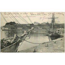 carte postale ancienne 22 BINIC. Islandais dans le Port 1934