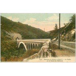carte postale ancienne 03 MALAVAUX. Viaduc et Tunnel