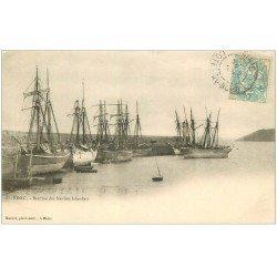 carte postale ancienne 22 BINIC. Rentrée des Navires Islandais 1903