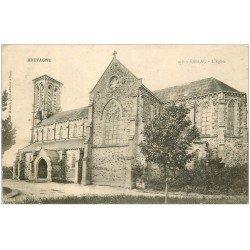carte postale ancienne 22 CALLAC. L'Eglise 1905. Pli coin gauche